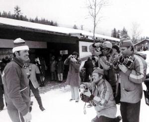 Der Held von Innsbruck - zweifacher Biathlon-Olympiasieger Nikolaj Kruglow (wird von meinen Kollegen fotografiert)