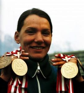 Zwei Gold- und zwei Bronzemedaillen von Tatjana Awerina