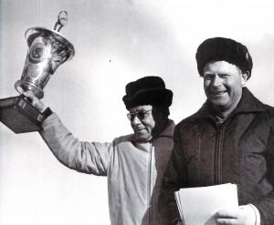 Bakuriani - 1974. Verdiente Trainer Konstantin Golubew und Sergej Sacharnov
