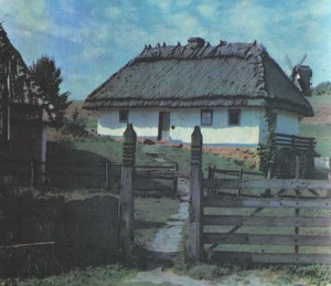 Hut in the village of Yaryshev. The end of the 18th century.