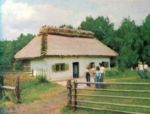 Hut in the village of Yasnozore. Early 20th century.