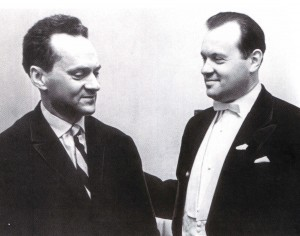 Die Dirigenten Israil Gussman und Jewgenij Swetlanow, 1964