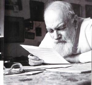Eine Melodie wird komponiert. Alexander Kassjanow, Komponist aus Nischni Nowgorod
