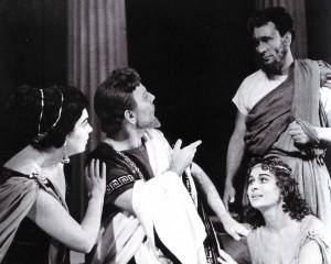 """""""Der Fuchs und die Weintraube"""". Darsteller: Era Suslowa, Michail Jakunin, Nadeshda und Wladimir Samojlow"""