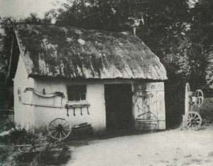 Forge in the village of New Sanzhery Poltava region. The end of the 19th century.