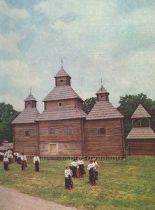 The complex of religious buildings in the village of Great Zholudsk Rivne region. 18th century.