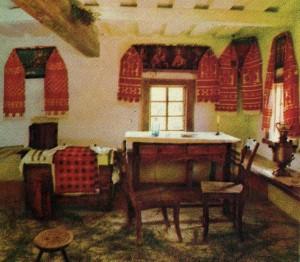 Interior  hut.
