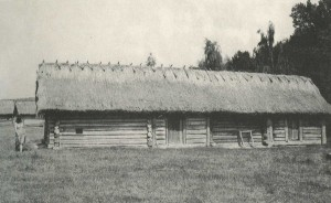 Hut in the village of Mulchitsy Rivne region. Early 20th century.