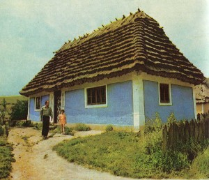 Hut in the village of Khmelnitsky region. 1892