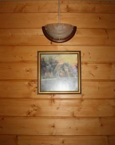 a wooden interior