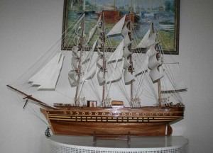 Ship model makes a variety of interior