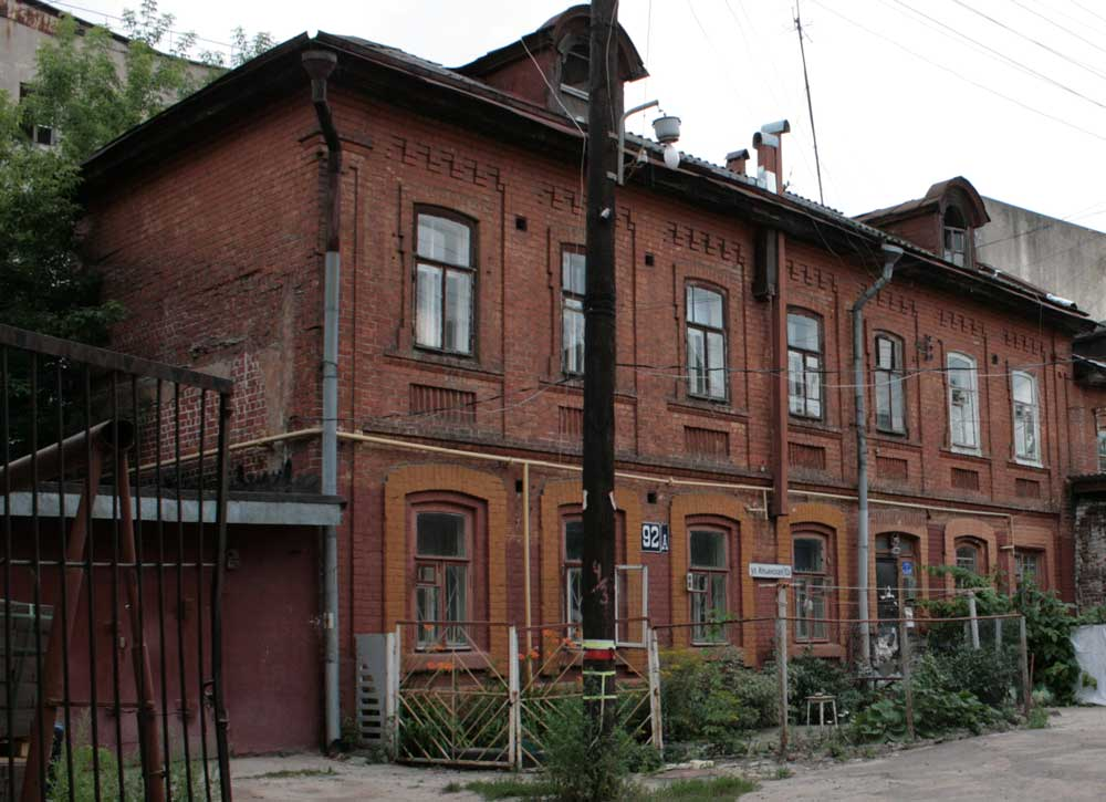 Culture brick building of the 19th century for Brick house construction