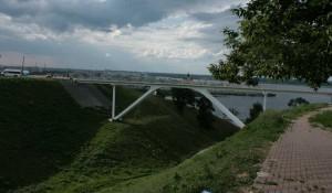 Bridge on the waterfront Fedorovsk. Nizhny Novgorod.