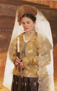 costume of a bride