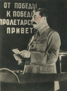 Stalin speaks at the ceremonial meeting