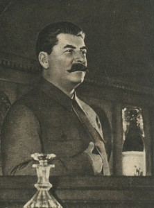 Stalin on the podium
