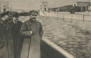 in the channel Volga Moscow (April 1937)
