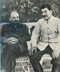V.I. Lenin and I.V. Stalin in Gorki. 1922