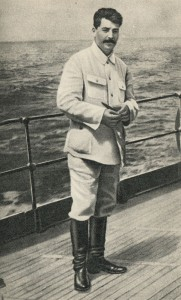 Stalin on the deck of the cruiser «Chervona Ukraina» of the black sea fleet. 25 July 1929.