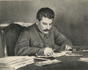 I.V. Stalin in his office