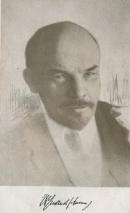 V.I. Lenin. Photo with an autograph of