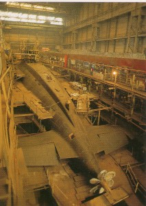The construction of the submarine