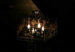 Very beautiful chandelier that brilliantly suited for karaoke bar a karaoke bar