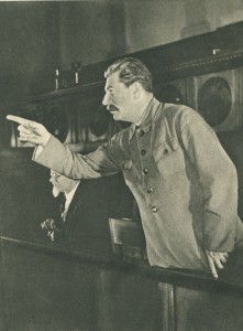 Stalin speaks at a meeting