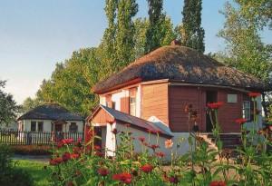 Das Haus im Bauerngut Kruzhilinskij, in dem M.A. Scholochow 1905 geboren wurde