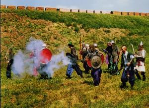 Inszenierung der Schlacht bei der Festung Asow