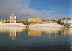 Flusshafen der Stadt Rostow am Don