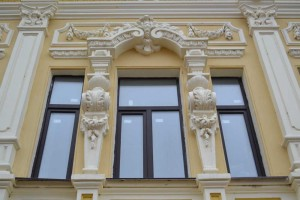 The architectural solution of the facade.