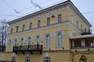 Beautifully made balcony on the building of Nizhniy Novgorod, street Rozhdestvenskaya, house 45V.