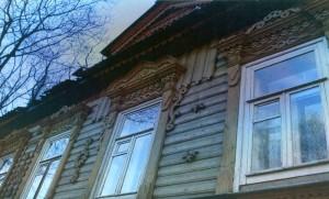 Wooden lace of Nizhny Novgorod. Bolshaya Pokrovskaya Street.