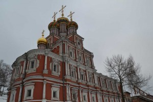 Nizhny Novgorod. Christmas Church is made in the Baroque style.