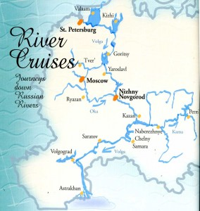 cruises down Russian rivers