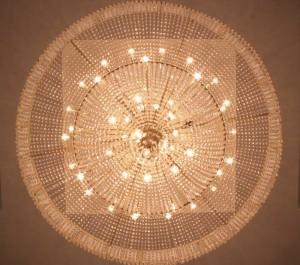Big round chandelier