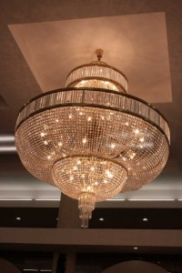A large chandelier - side view.