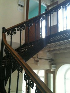 Metal staircase of the 19th century