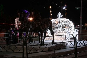 The Carriage Cinderella. Figures that decorate the new year celebration.