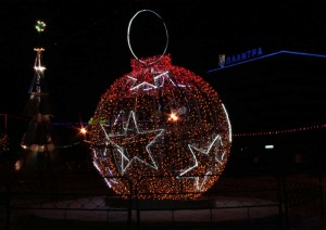 The decoration of the new year squares.