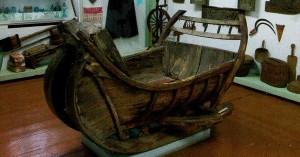 The Nizhny Novgorod region. Balakhna. Old wooden sledges.