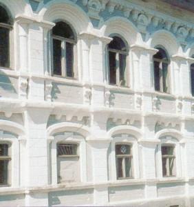 The Nizhny Novgorod region. Chkalovsk. Russian brick facade.