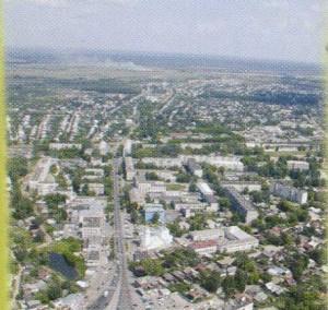 The Nizhny Novgorod region. Bor. Boron from the height of bird flight.