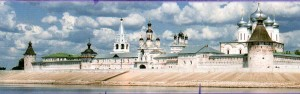 The Nizhny Novgorod region. Lyskovo. Makaryev monastery in the summer.