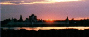 The Nizhny Novgorod region. Lyskovo. Makaryev monastery at dawn.