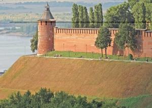 Nizhny Novgorod Kremlin. Alley of love.