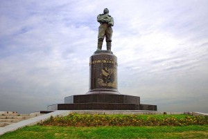The monument of Chkalov had been erected on the square of Minin.