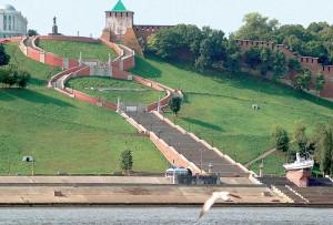View Chkalov stairs
