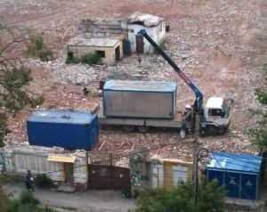 Установка строительной бытовки